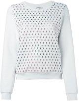 Carven lattice perforated sweatshirt