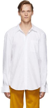 Sies Marjan White Crinkled Sander Shirt