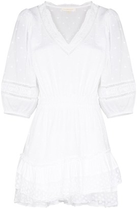 LoveShackFancy Consuela V-neck mini dress
