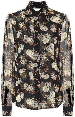 Victoria Beckham Floral silk georgette blouse