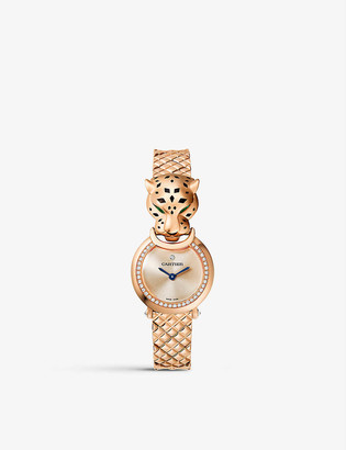 Cartier HPI01381 La Panthere 18ct rose-gold and diamond watch