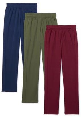 Athletic Works Boys Mesh DriWorks 3-Pack Pants, Sizes 4-18 & Husky