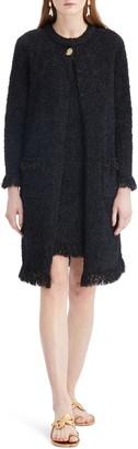 Oscar de la Renta Long Tweed Knit Jacket