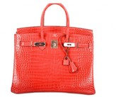 Hermes pristine (PR Birkin Bag Bougenville Crocodile Porosus 35cm Birkin Bag