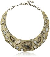 Kendra Scott Mira Antique Brass Pyrite Mosaic Necklace,10""