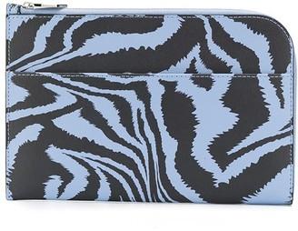 Ganni Zebra Print Curved Purse
