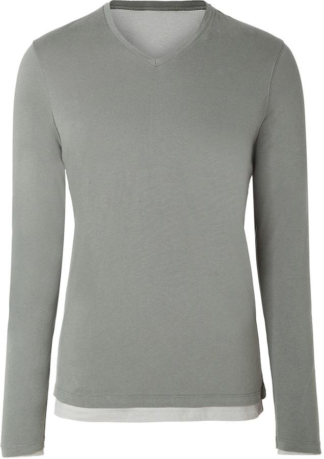 Majestic Sage Double Cotton-Cashmere T-Shirt