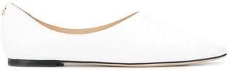Jimmy Choo Joselyn crocodile effect loafers