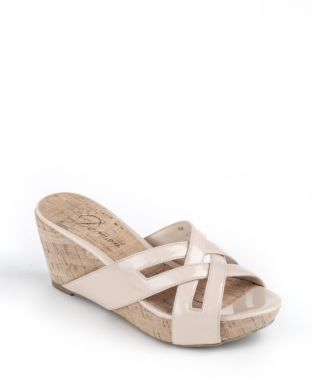 Delman Carla Wedge Sandals