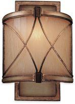 Minka Lavery Aston Court BronzeTM 12-Inch 1-Light Wall Sconce with Avorio Mezzo GlassTM