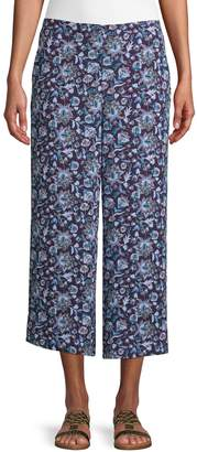 Lord & Taylor Floral Wide-Leg Pants