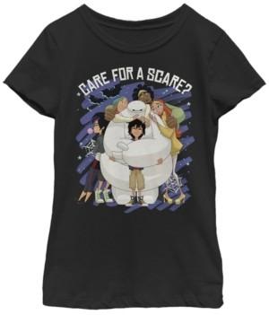 Fifth Sun Big Girls Big Hero Six Series Scare Baymax Short Sleeve T-shirt
