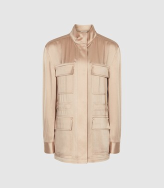 Reiss Blakely - Lightweight Utility Jacket in Neutral