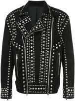 Balmain studded suede biker jacket