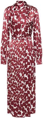 Gabriela Hearst Josefina Wrap-effect Printed Hammered Silk Midi Dress
