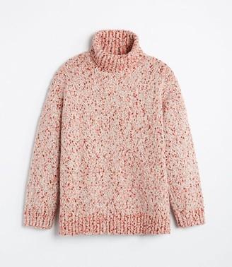 LOFT Lou & Grey Flecked Turtleneck Tunic Sweater