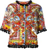 Dolce & Gabbana Carretto Siciliano print jacket - women - Silk/Cotton/Spandex/Elastane/Viscose - 40