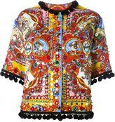 Dolce & Gabbana Carretto Siciliano print jacket - women - Viscose/Cotton/Silk/Spandex/Elastane - 40