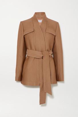 Gabriela Hearst Proteus Belted Wool And Silk-blend Blazer - Camel