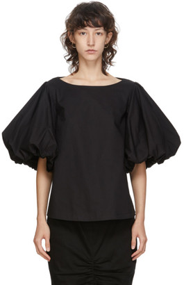 Edit Black Balloon Sleeve Top