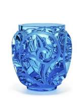 Lalique Tourbillons Limited Edition Blue Vase