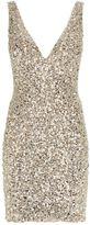 Jovani Crystal V-Neck Mini Dress