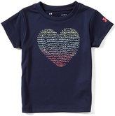 Under Armour Little Girls 2T-6X Heart Short-Sleeve Tee