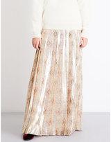 Vilshenko Cornelia floral-print pleated silk-blend maxi skirt