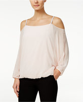 MSK Embellished Cold-Shoulder Blouse