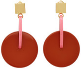 Marni Pink and Red Vertigo Earrings