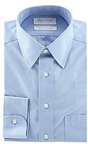 Roundtree & Yorke Gold Label Solid Non-Iron Fitted Classic-Fit Point-Collar Dress Shirt