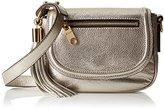 Milly Astor Metallic Sm Saddle Cross-Body Bag