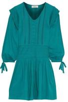 Sea Hemingway Pintucked Cotton-voile Mini Dress