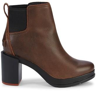 Sorel Blake Block-Heel Leather Chelsea Boots