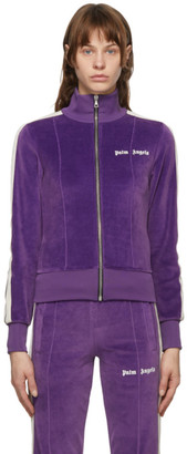 Palm Angels Purple Chenille Track Jacket