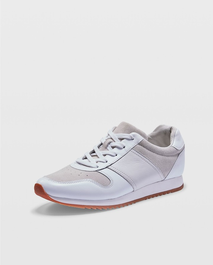 club monaco leather sneaker