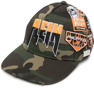 Philipp Plein Logo-Patch Camouflage Baseball Cap