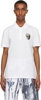 Alexander McQueen White Skull Badge Polo