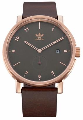 adidas Men's Analogue Quartz Watch with Leather Strap Z12-3038-00