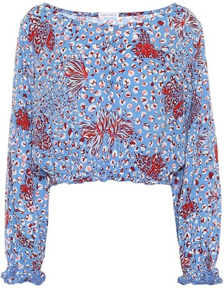 Poupette St Barth Exclusive to Mytheresa Betty printed crop top