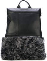 Emporio Armani fur panel backpack