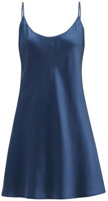 La Perla Scoop-back Silk-satin Slip Dress - Navy