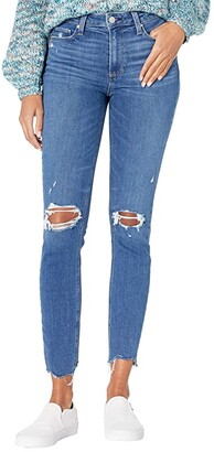 Paige Hoxton Ankle in On the Rocks Destructed w/ Lit Hem (On the Rocks Destructed w/ Lit Hem) Women's Jeans
