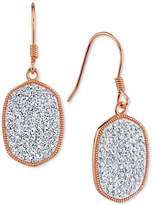 Unwritten Crystal Pavé Drop Earrings in Rose Gold Flashed Sterling Silver