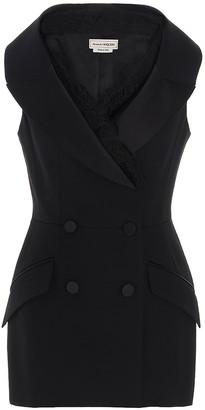 Alexander McQueen Sleeveless Tuxedo Blazer