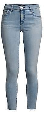 J Brand Women's 835 Mid-Rise Racing Stripe Crop Skinny Jeans