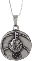 Alex and Ani Alder Detail Pendant Adjustable Necklace