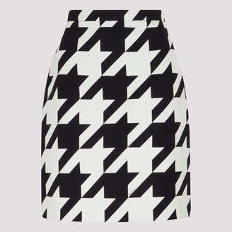 Gucci Houndstooth Print Mini Skirt