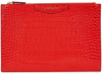 Givenchy Antigona medium crocodile-effect pouch