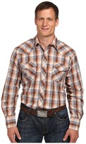 Roper 9742 Big & Tall Multi Brown Plaid w/ Lurex